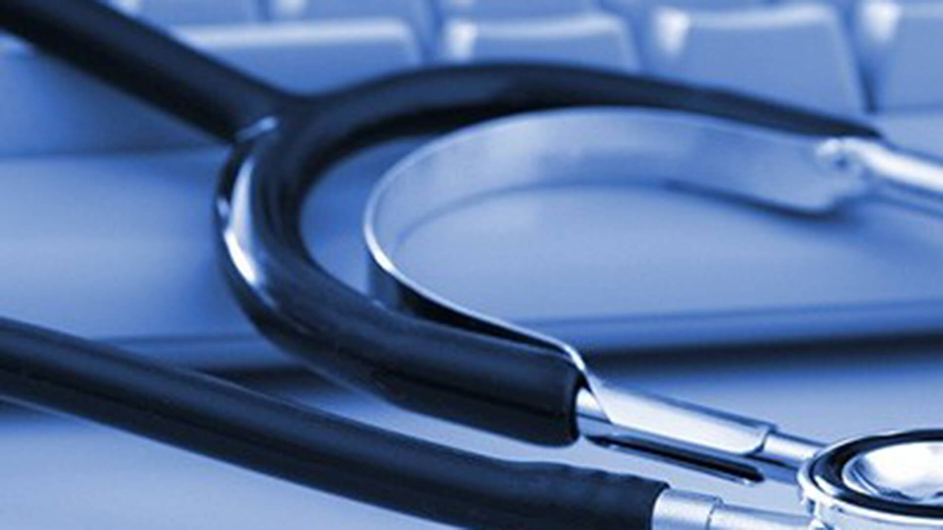 Stethoscope on a keyboard