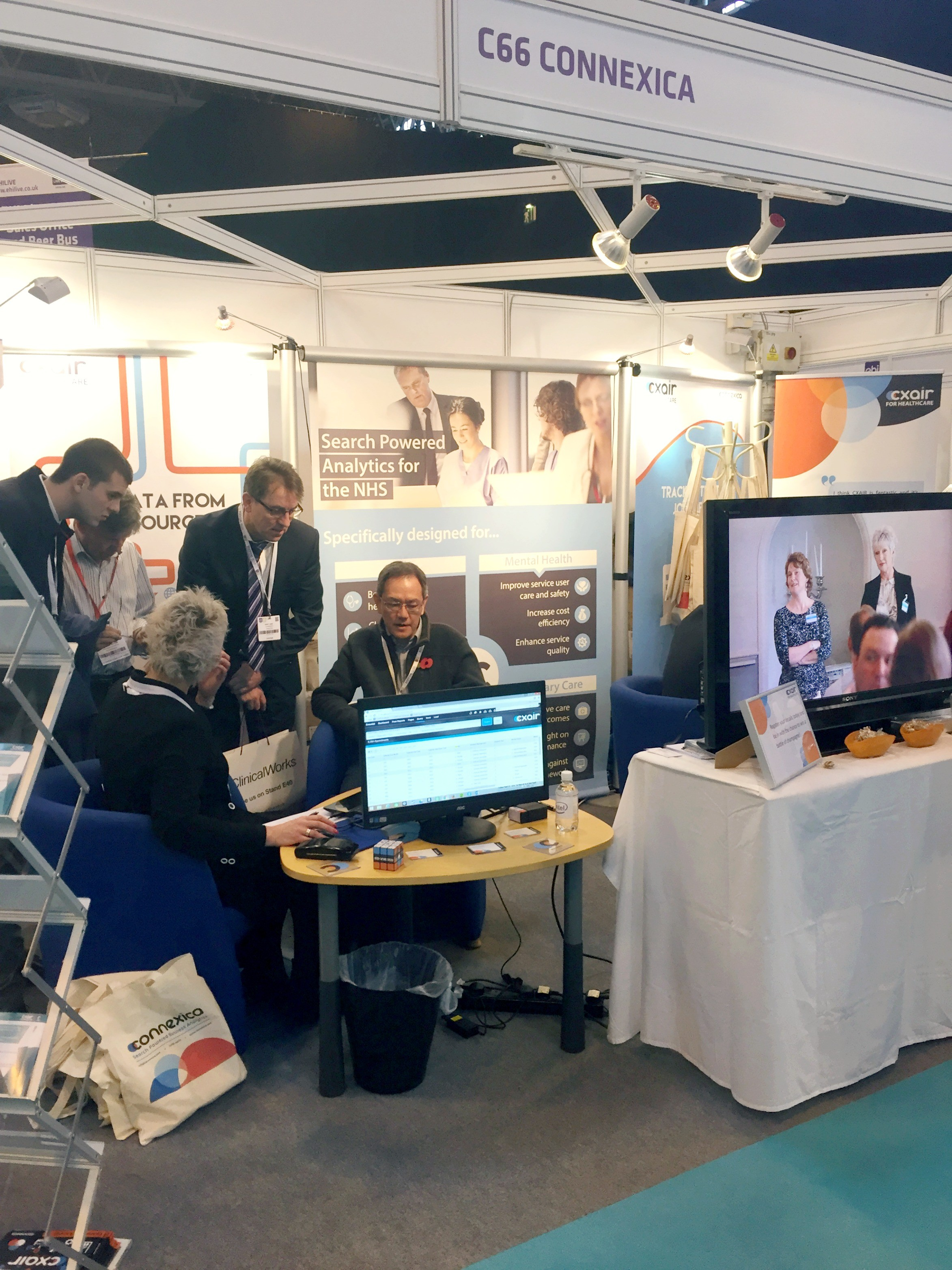 A photo of the Connexica stand at EHI Live 2015