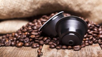 Coffee pods and coffee beans