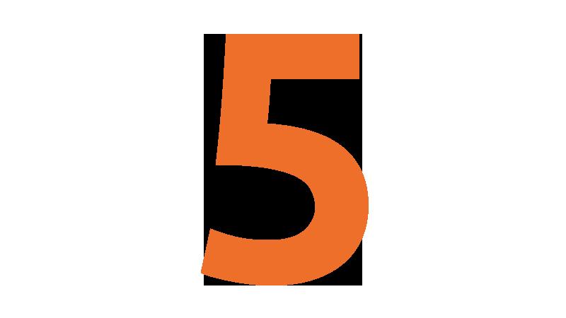 An orange 5
