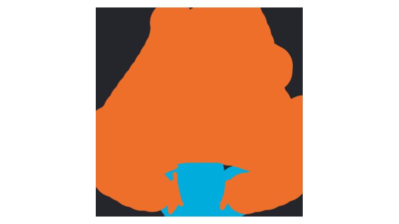 An orange bell